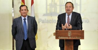 Pedro Sanz y Javier Erro   Gobierno de La Rioja