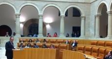 El presidente Pedro Sanz en el Parlamento   Redacción