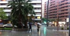 Lluvias en la capital riojana   Redacción