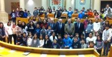 Escolares en el Parlamento   Redacción