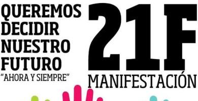 Manifestación Mareas Ciudadanas, 21 de Febrero   Internet