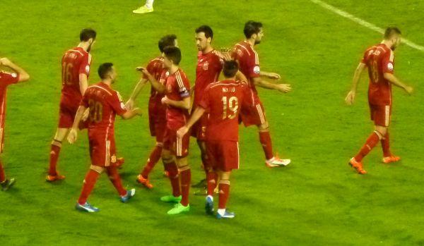 España celebrando un gol contra Luxemburgo | Redacción